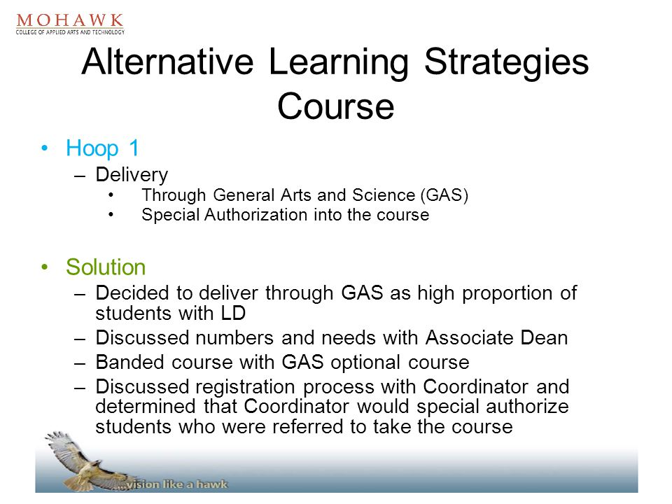 Alternative Learning Strategies Course