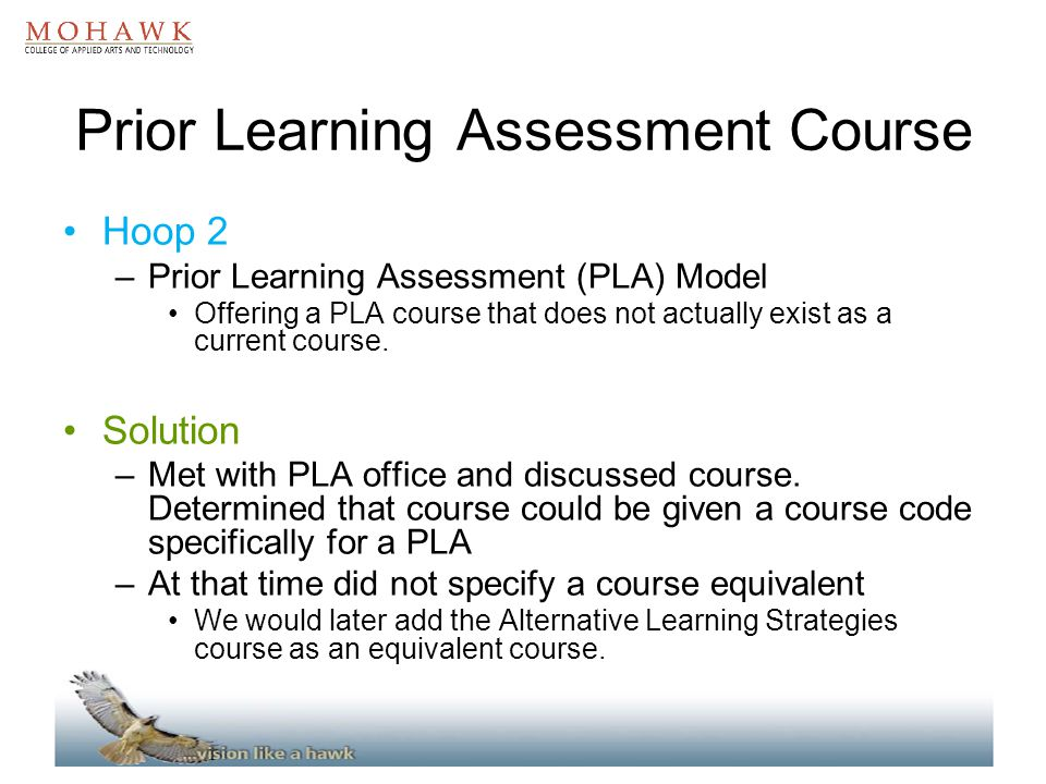 Prior Learning Assessment Course
