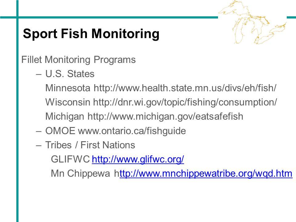 Sport Fish Monitoring Fillet Monitoring Programs U.S. States