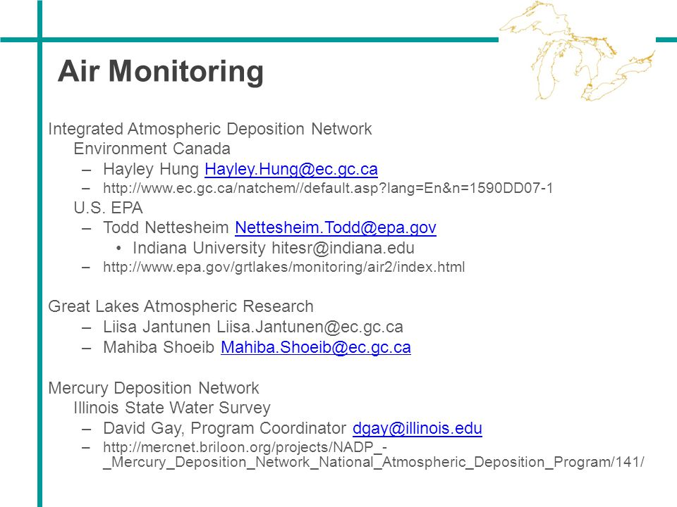 Air Monitoring Integrated Atmospheric Deposition Network