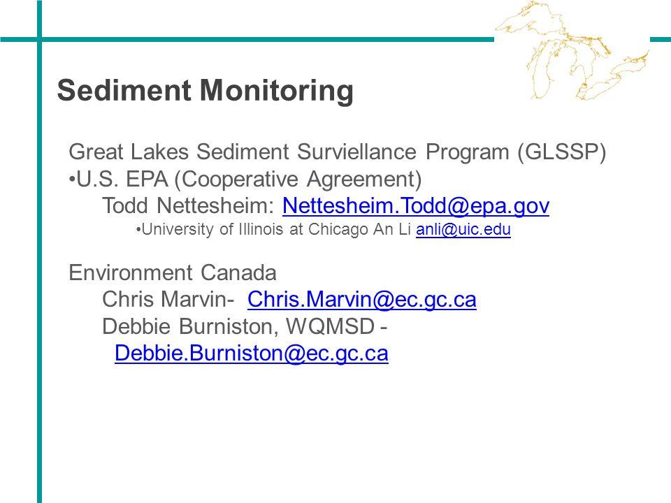 Sediment Monitoring Great Lakes Sediment Surviellance Program (GLSSP)