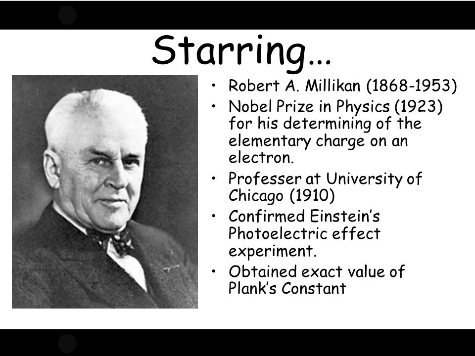 Starring… Robert A. Millikan (1868-1953)