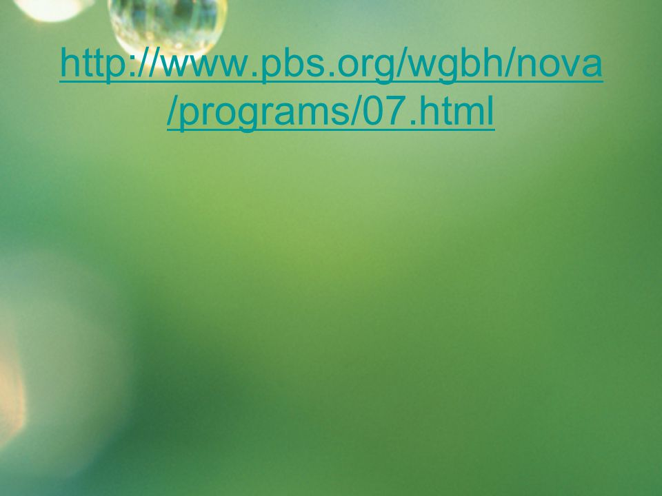 http://www.pbs.org/wgbh/nova/programs/07.html
