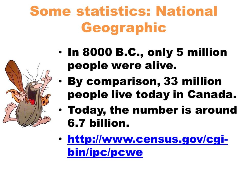 Some statistics: National Geographic