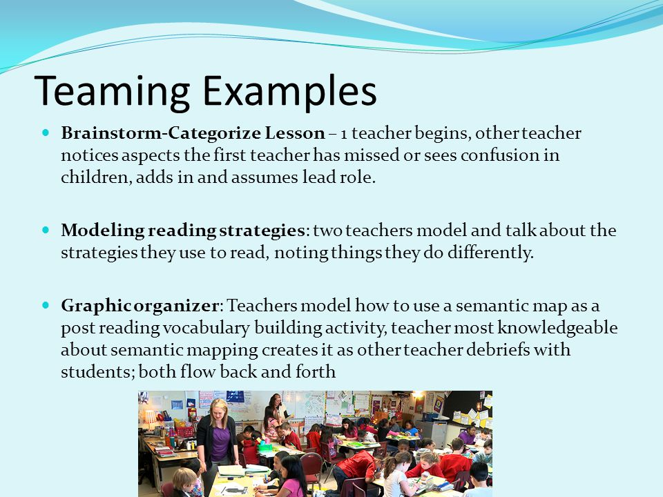 Teaming Examples