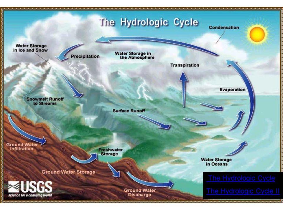 The Hydrologic Cycle The Hydrologic Cycle II