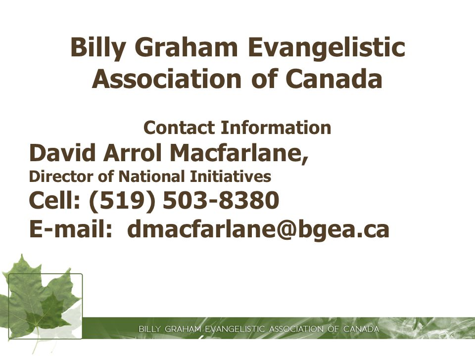 Billy Graham Evangelistic