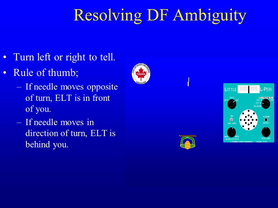 Resolving DF Ambiguity
