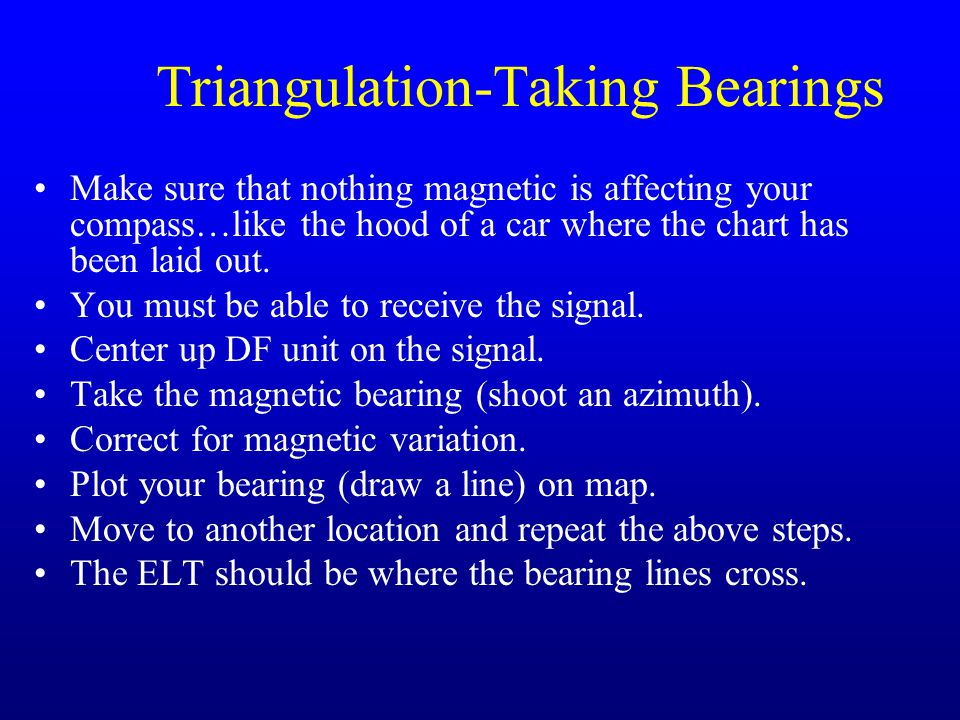 Triangulation-Taking Bearings