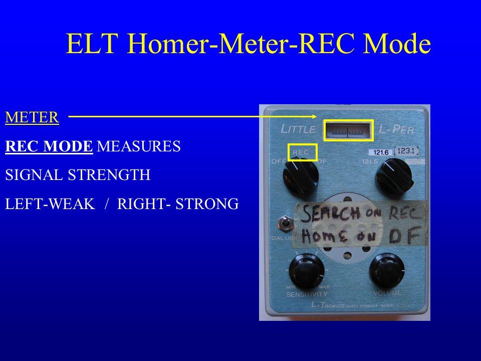 ELT Homer-Meter-REC Mode