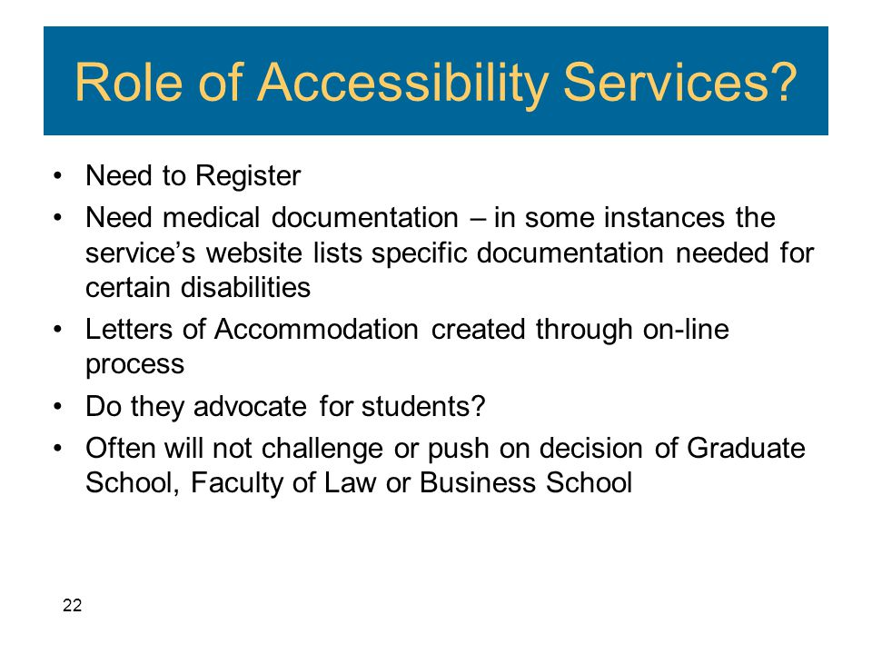 Role of Accessibility Services