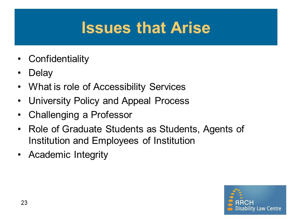 Issues that Arise Confidentiality Delay