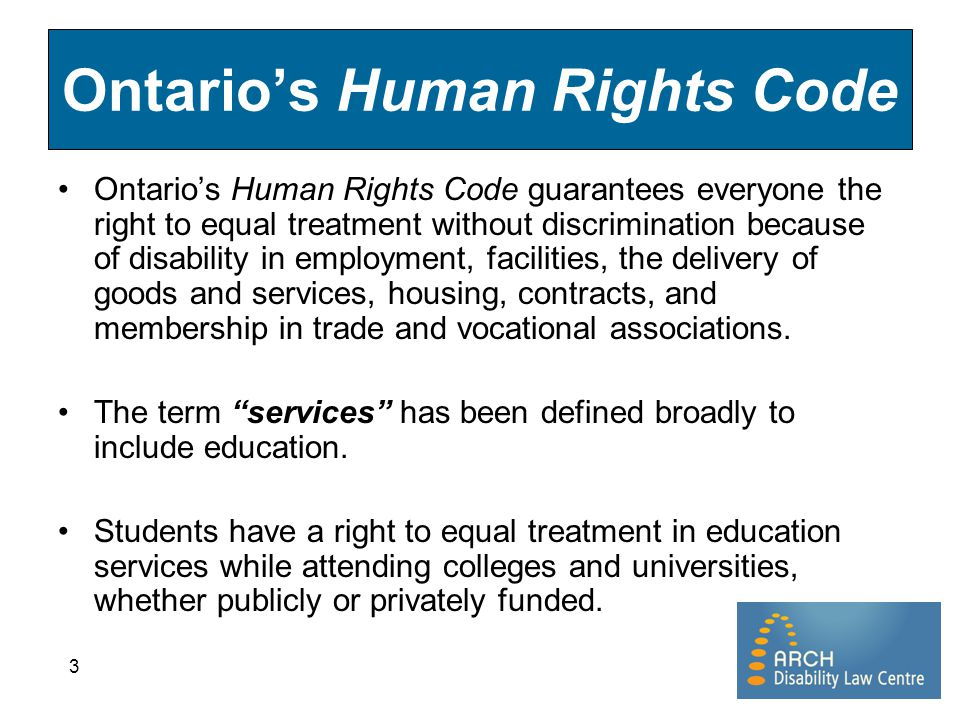 Ontario's Human Rights Code