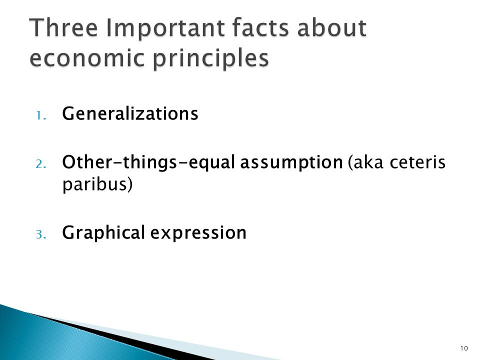 Three Important facts about economic principles