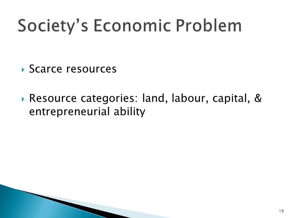 Society's Economic Problem