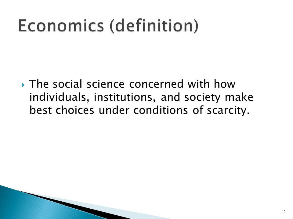 Economics (definition)