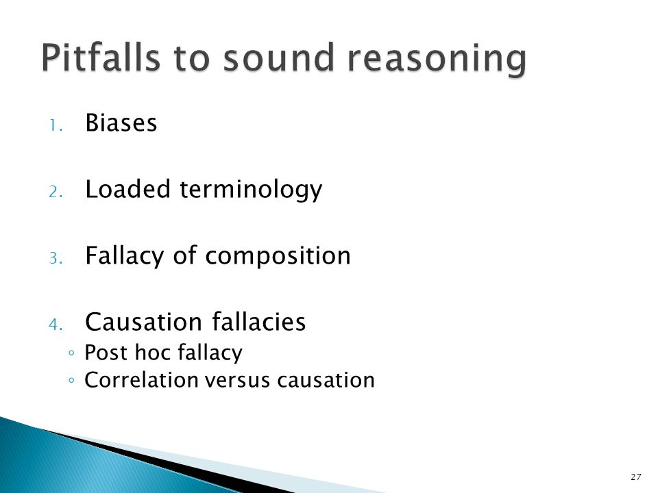 Pitfalls to sound reasoning