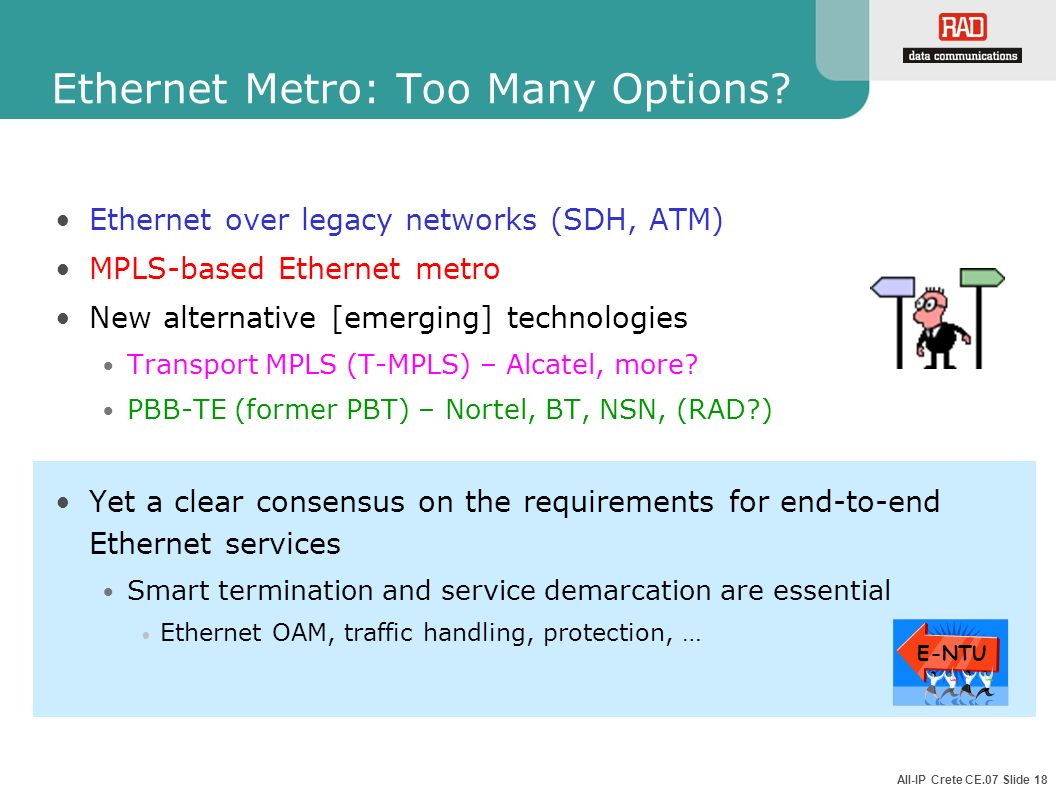 Ethernet Metro: Too Many Options
