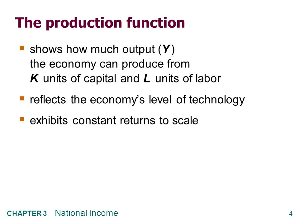 3.2 How is National Income Distributed to the Factors of Production