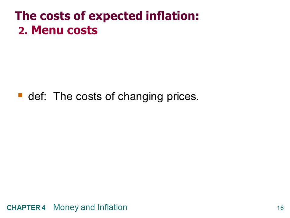 The costs of expected inflation: 3. Relative price distortions