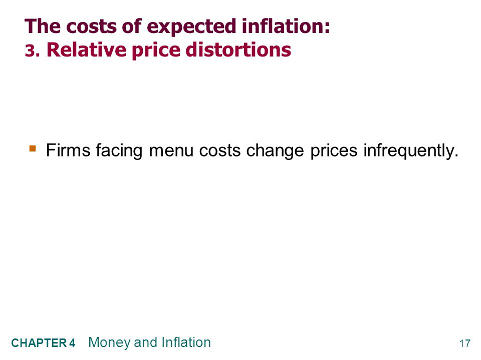 The costs of expected inflation: 4. Unfair tax treatment