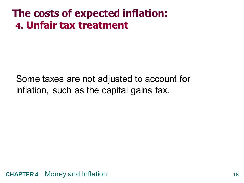 The costs of expected inflation: 5. General inconvenience