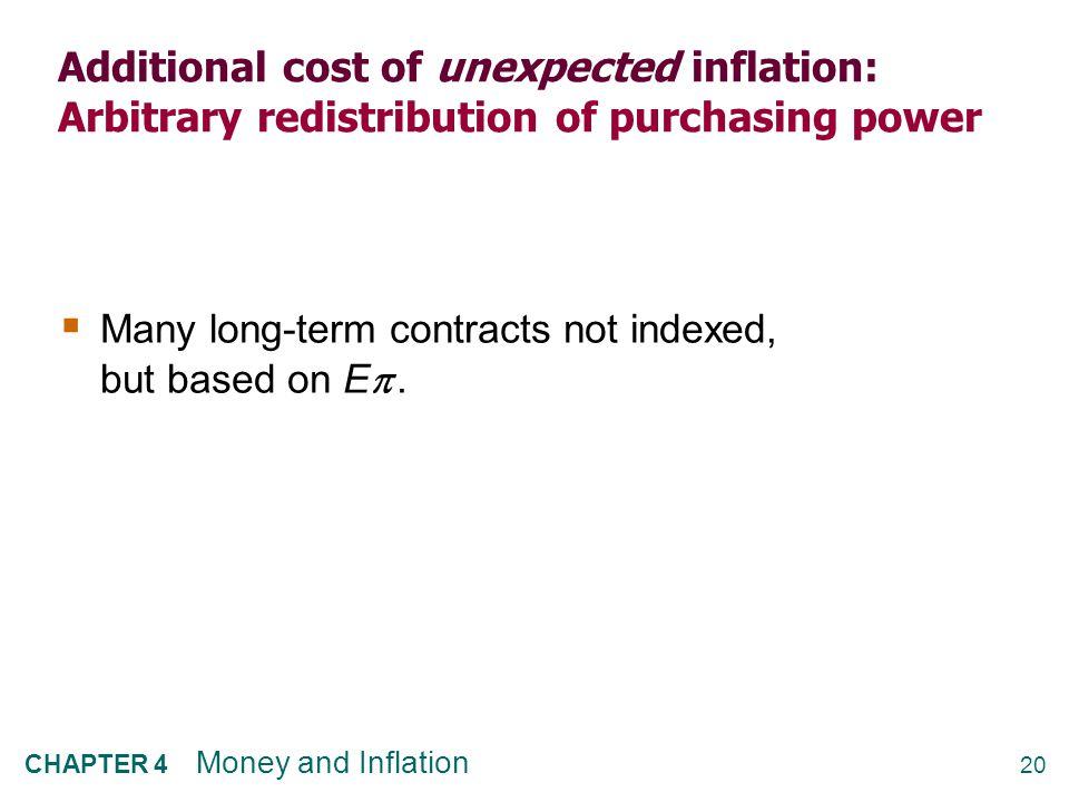 Additional cost of high inflation: Increased uncertainty