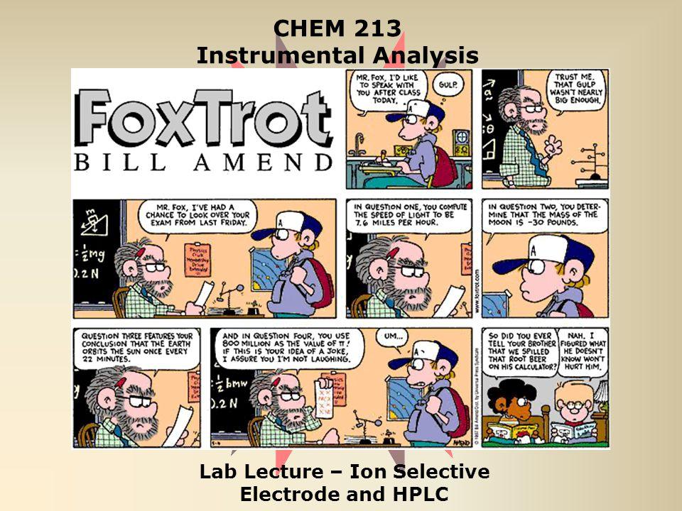 CHEM 213 Instrumental Analysis