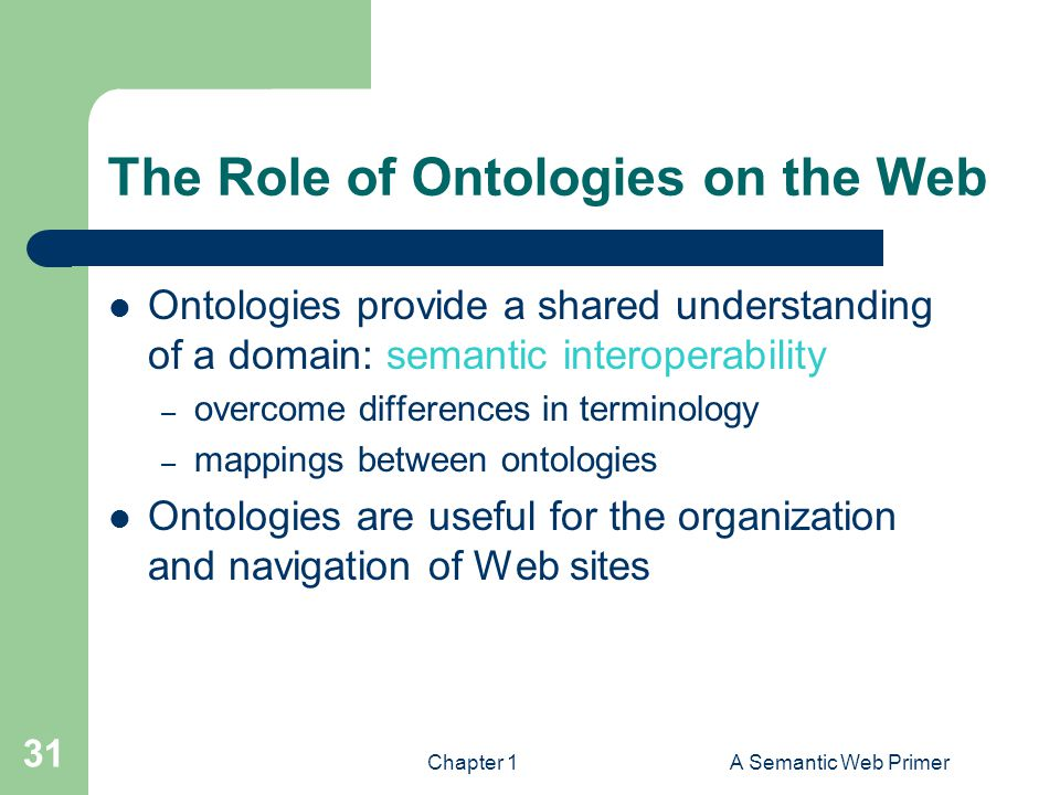 The Role of Ontologies on the Web