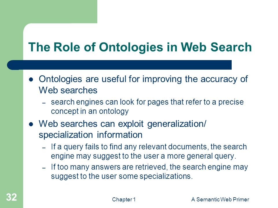 The Role of Ontologies in Web Search
