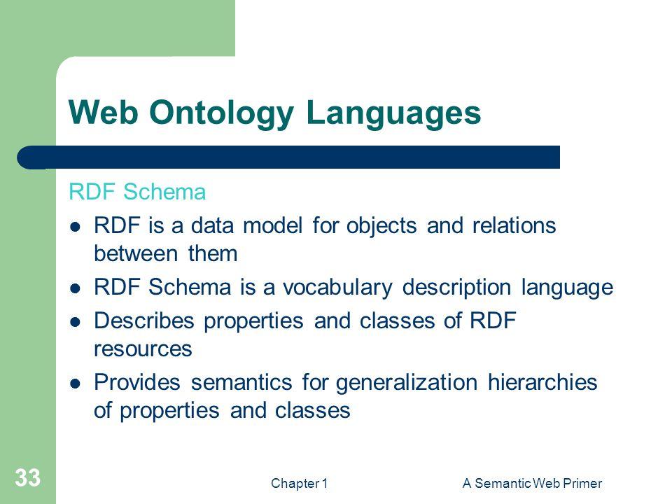 Web Ontology Languages