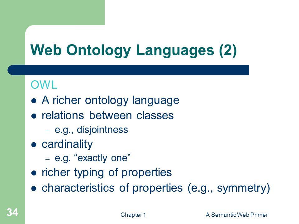 Web Ontology Languages (2)