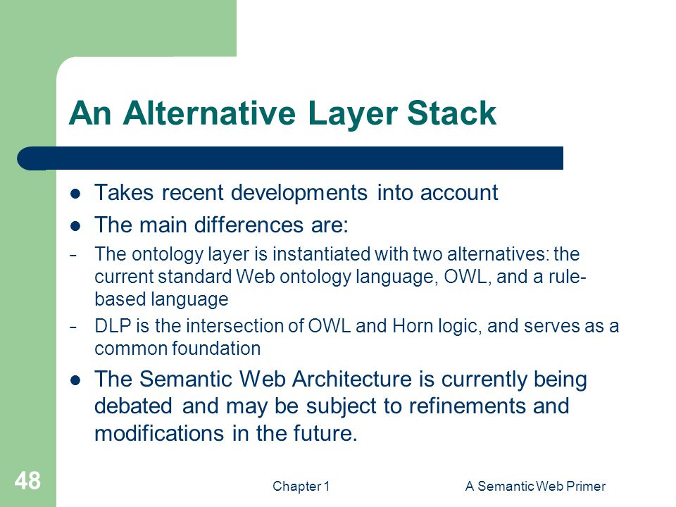 An Alternative Layer Stack