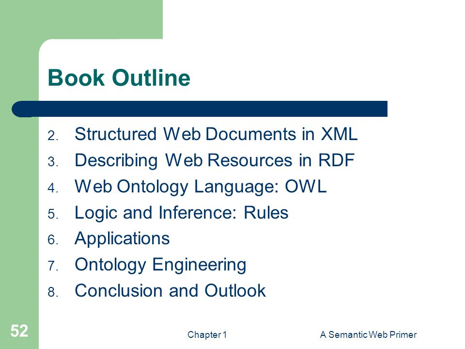 Book Outline Structured Web Documents in XML