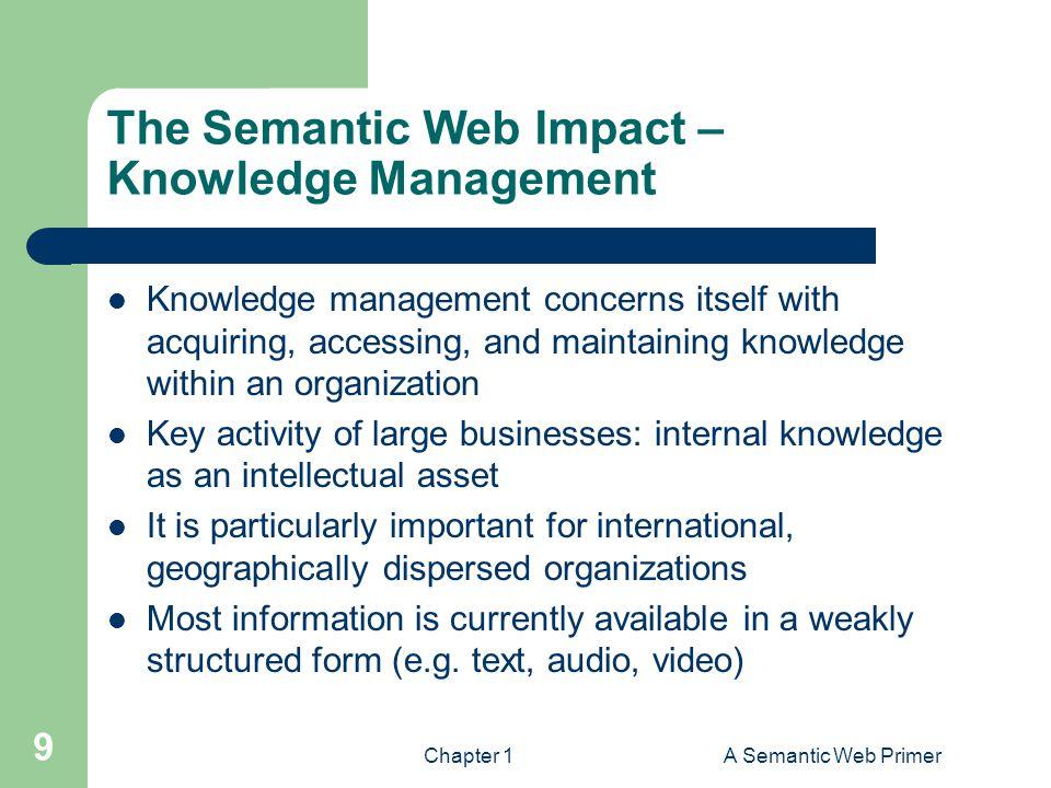 The Semantic Web Impact – Knowledge Management