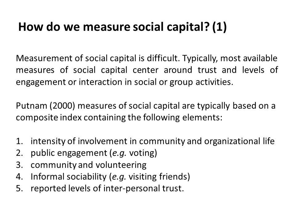 How do we measure social capital (1)