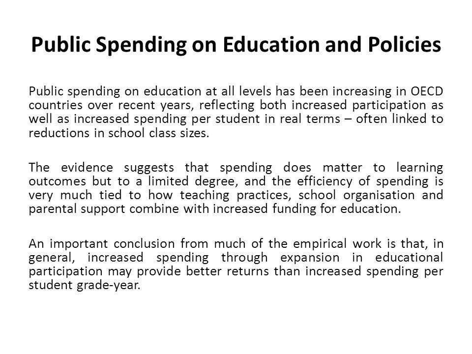 Public Spending on Education and Policies