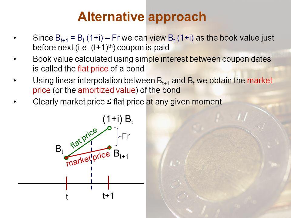 Alternative approach (1+i) Bt Bt Bt+1