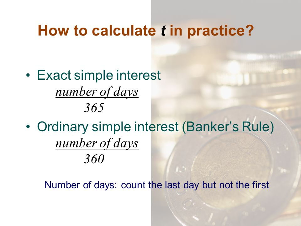 How to calculate t in practice