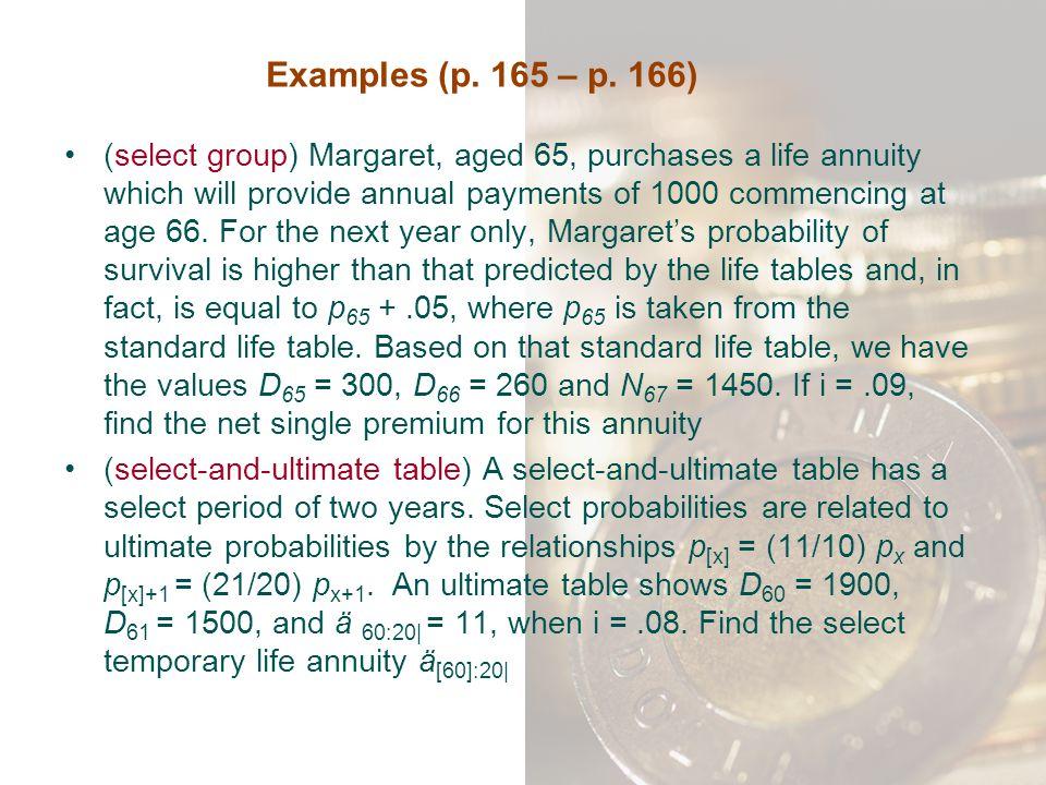 Examples (p. 165 – p. 166)