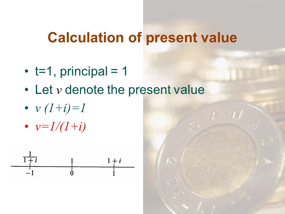 Calculation of present value