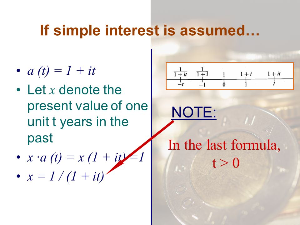 If simple interest is assumed…