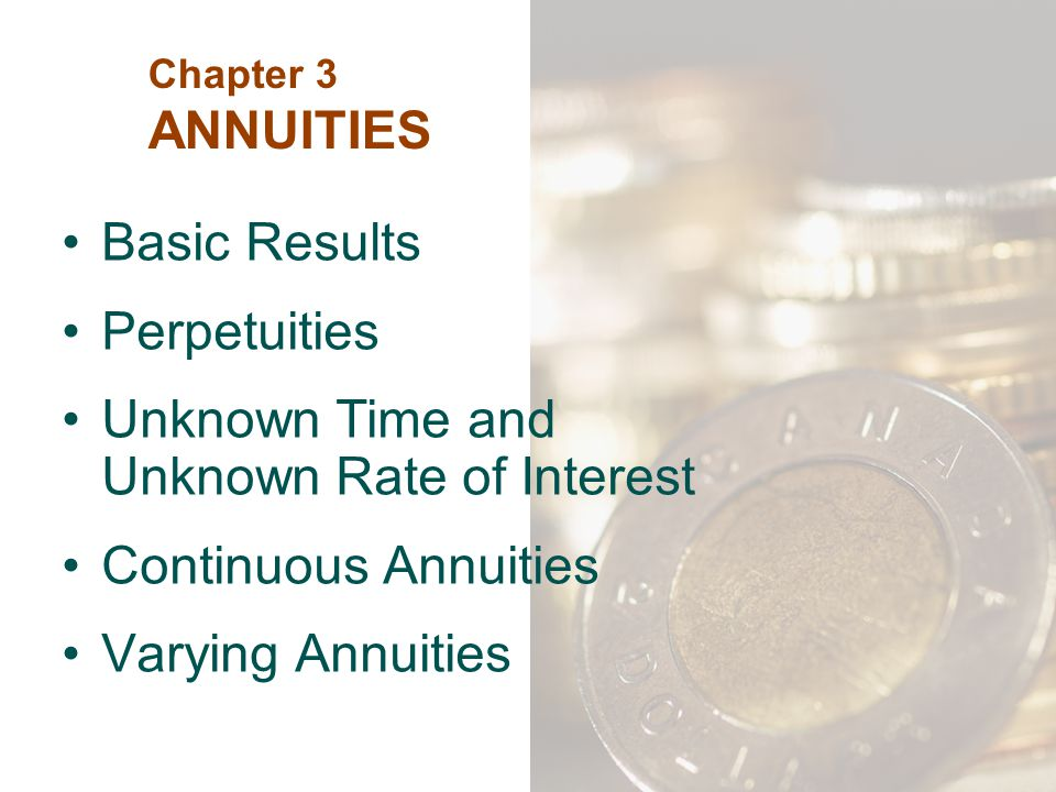 Unknown Time and Unknown Rate of Interest Continuous Annuities