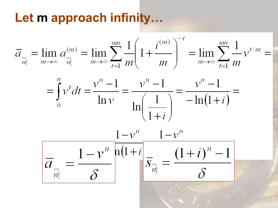 Let m approach infinity…