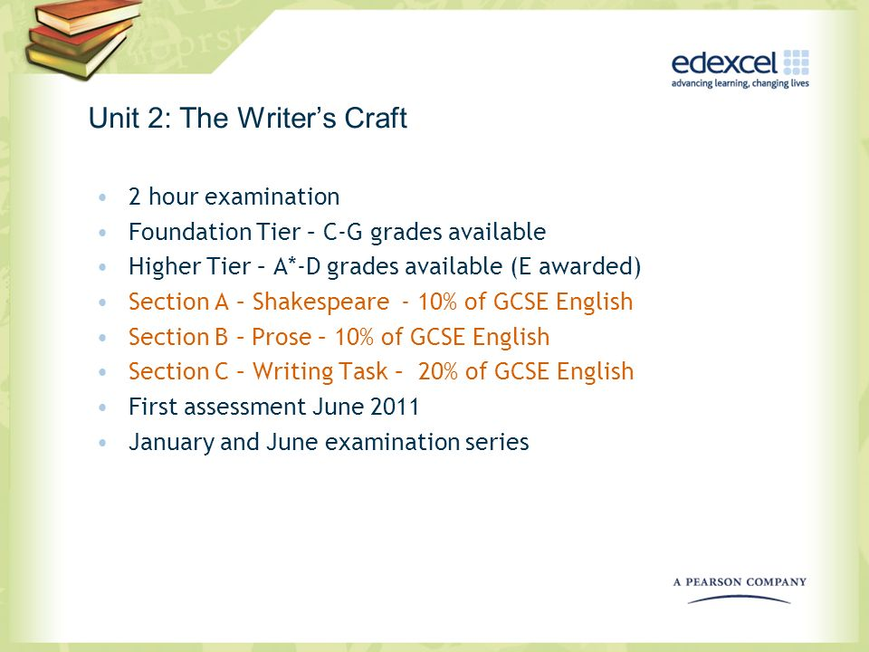 Unit 2: The Writer's Craft