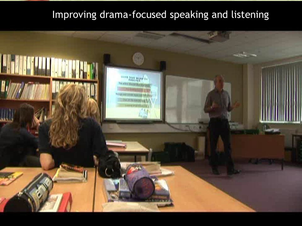 Improving drama-focused speaking and listening