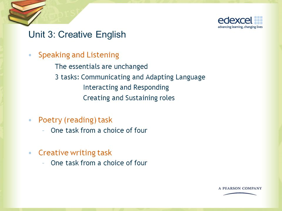Unit 3: Creative English