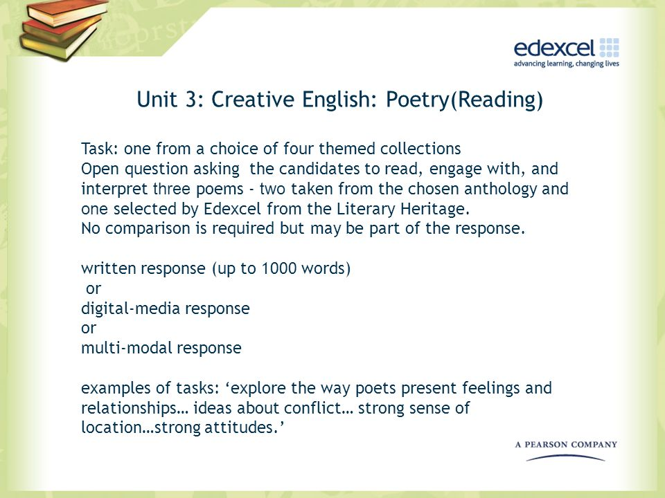 Unit 3: Creative English: Poetry(Reading)