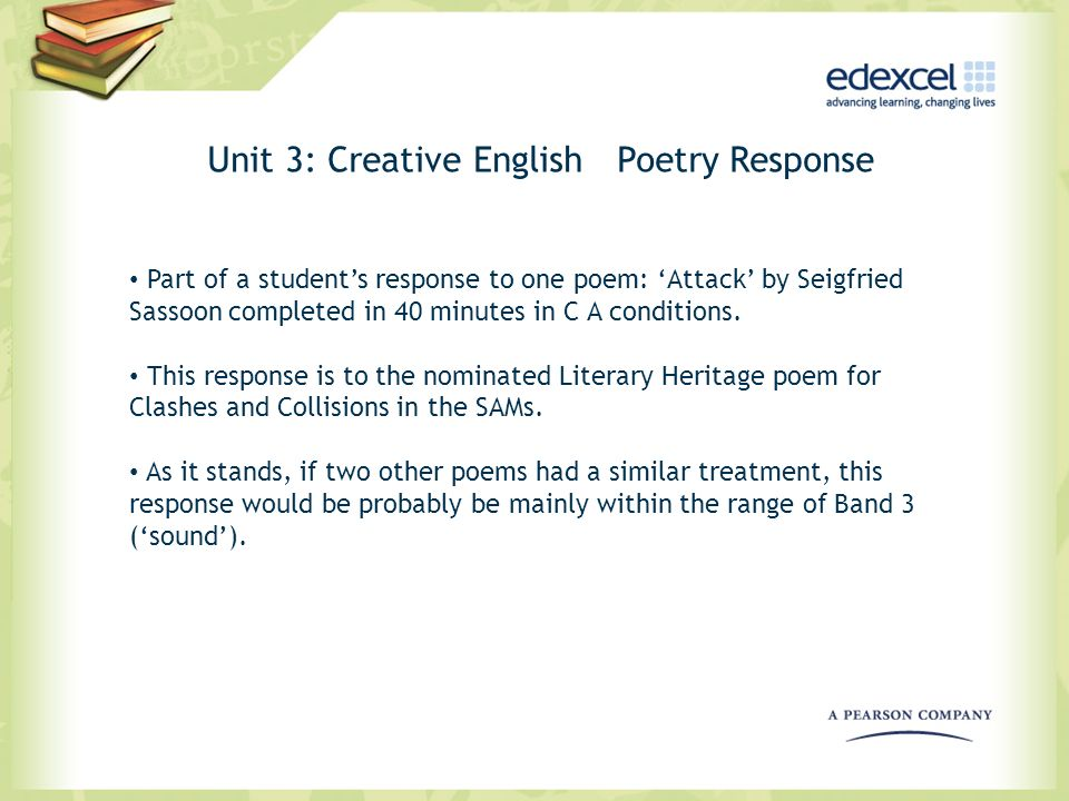 Unit 3: Creative English Poetry Response