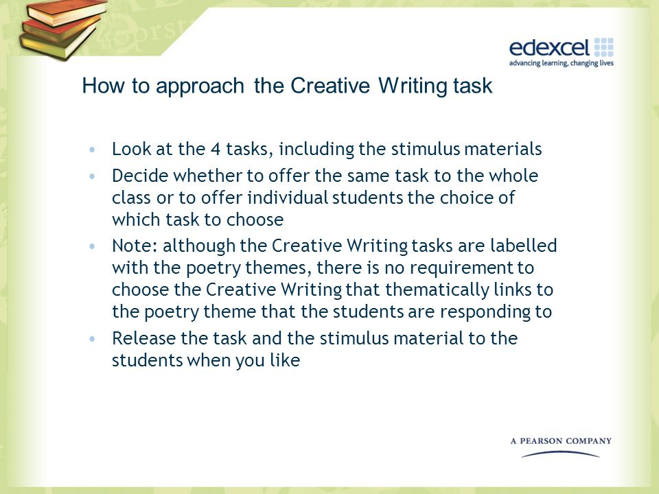 How to approach the Creative Writing task
